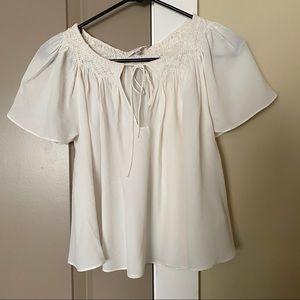 Wilfred Aritzia Ivory silk blouse XXS